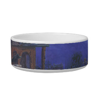Haunted House Cat Dish Cat Water Bowls