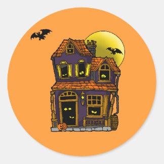 Haunted House Classic Round Sticker