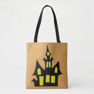 Haunted House Customizable Green Tote Bag