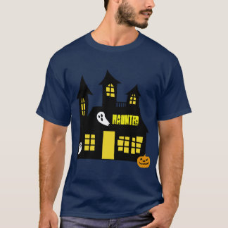 Haunted house design  T-shirt