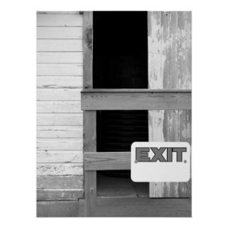 Haunted House Exit Sign & Architectural Detail