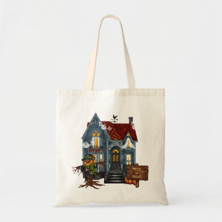 Haunted House Halloween Candy Tote Bag