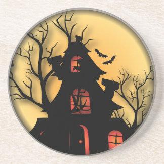 Haunted House | Halloween Beverage Coasters