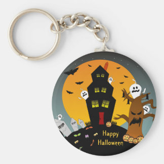 Haunted House Halloween Keychain