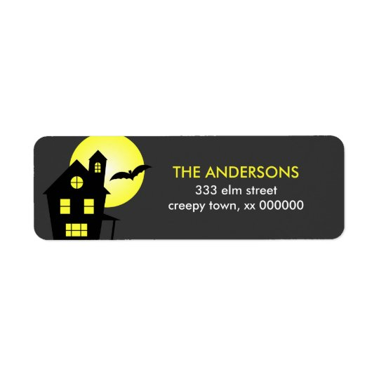 Haunted House Halloween Labels