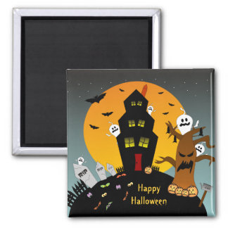 Haunted House Halloween Magnet