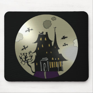Haunted House Halloween Mouse Pad