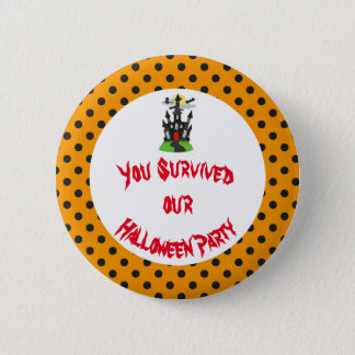 Haunted House Halloween Party 6 Cm Round Badge