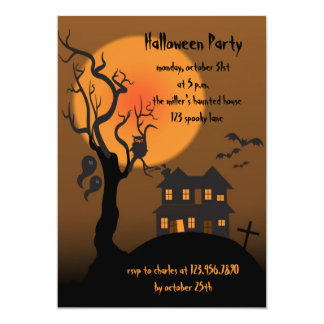Haunted house -halloween party invitation