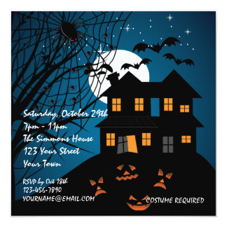 Haunted House Halloween Party Personalized Invite