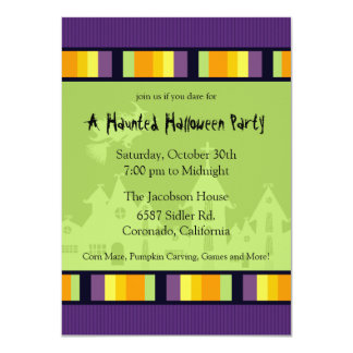"Haunted House Halloween Party Invitation 4.5"" X 6.25"" Invitation Card"