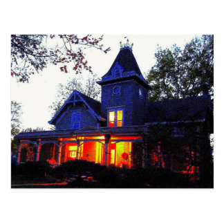 Haunted House Halloween Party Invitation Postcard