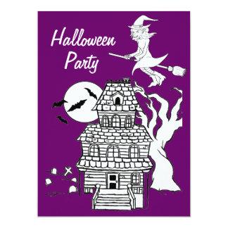 "Haunted House Halloween Party Invitations 6.5"" X 8.75"" Invitation Card"