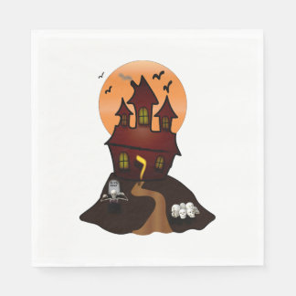 Haunted House Halloween Party Napkins Disposable Serviettes