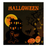 Haunted House Halloween Poster