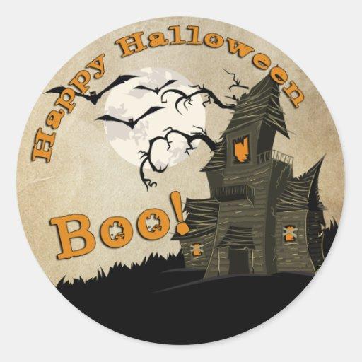 Haunted House Halloween Sticker