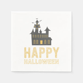 Haunted House Happy Halloween Cocktail Napkin Disposable Napkin