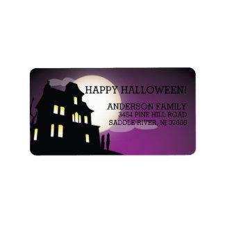 Haunted House Happy Halloween Return Address Address Label