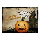 Haunted House & Jack o' Lantern Halloween Card