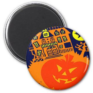 Haunted House Jack o lantern Fridge Magnets