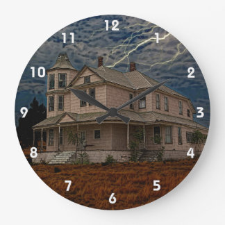 HAUNTED HOUSE LARGE CLOCK