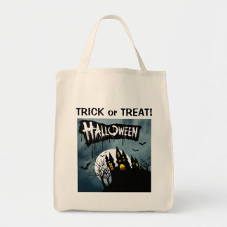 Haunted House on a Hill Spooktacular Halloween Bag