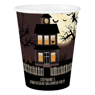 Haunted House Paper Cup