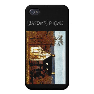 Haunted House Personalized Halloween Covers For iPhone 4