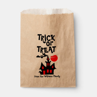 Haunted House Personalized Trick or Treat Favour Bag