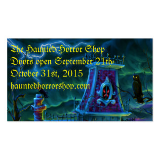 Haunted House Portrait Business Card
