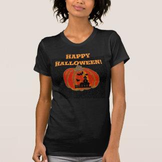 Haunted House, Pumpkin, Happy Halloween! Tee Shirts