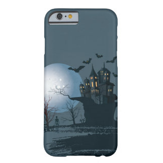 Haunted house,skeleton, dead tree, moon, raven barely there iPhone 6 case