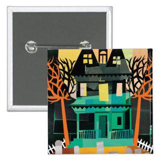 Haunted House Spooks 15 Cm Square Badge