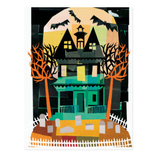 Haunted House Spooks Postcard