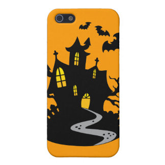 Haunted House with Bats iPhone 5 Case