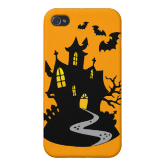 Haunted House with Bats iPhone 4/4S Covers