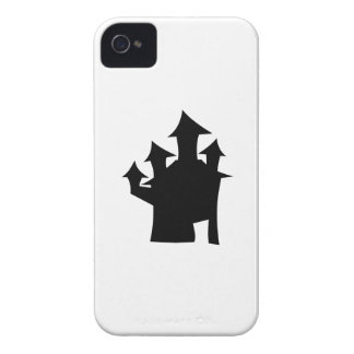 Haunted House with Four Towers. Black and White. iPhone 4 Case-Mate Case