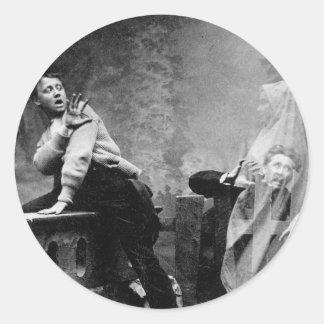 Haunted Lane - Vintage Ghost Photo 1880 Sticker