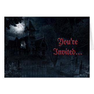 Haunted Mansion Custom Greeting Card