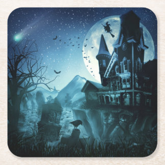 Haunted Mansion Paper Coaster Square Paper Coaster