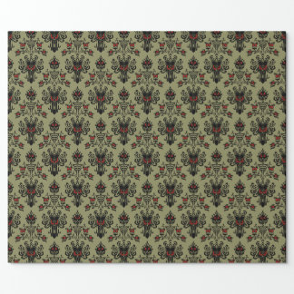 Haunted Mansion Wallpaper Christmas Design Wrapping Paper
