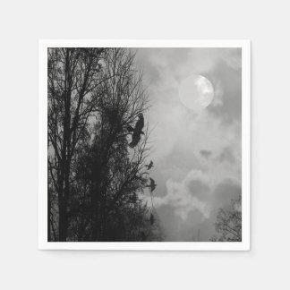 Haunted Moon with Ravens Halloween Napkin Disposable Serviette