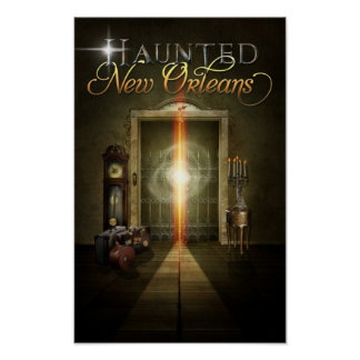 Haunted New Orleans Ghost Elevator Poster