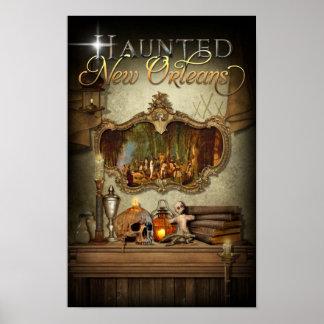 Haunted New Orleans Voodoo Spiritual Altar Poster