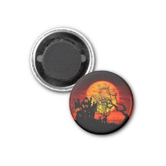 HAUNTED NIGHT, HAUNTED HOUSE! (Halloween) ~ 3 Cm Round Magnet