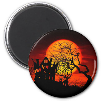HAUNTED NIGHT, HAUNTED HOUSE! (Halloween) ~ 6 Cm Round Magnet