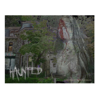 Haunted postcard