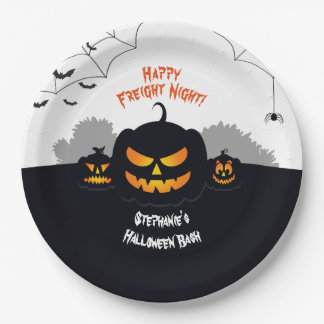 Haunted Pumpkin Patch Paper Plate