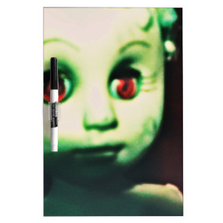 haunted red eyed doll products dry erase board