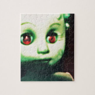haunted red eyed doll products jigsaw puzzle